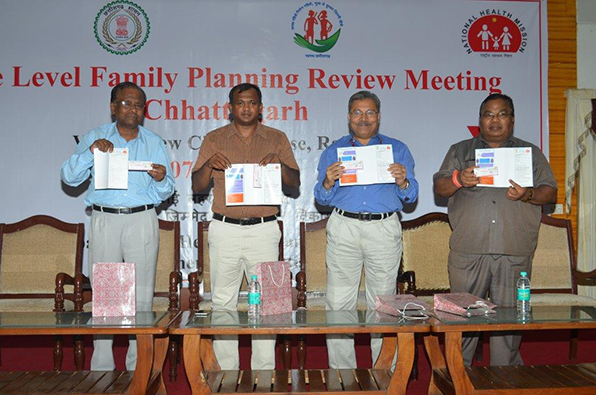 Two New contraceptives – Injectable (MPA) and Chhaya launched at the state level family planning review meeting in Chhattisgarh.