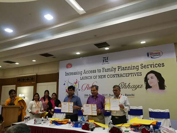 Injectable contraceptive (MPA) and Chhaya – two new contraceptives launched in Jharkhand.