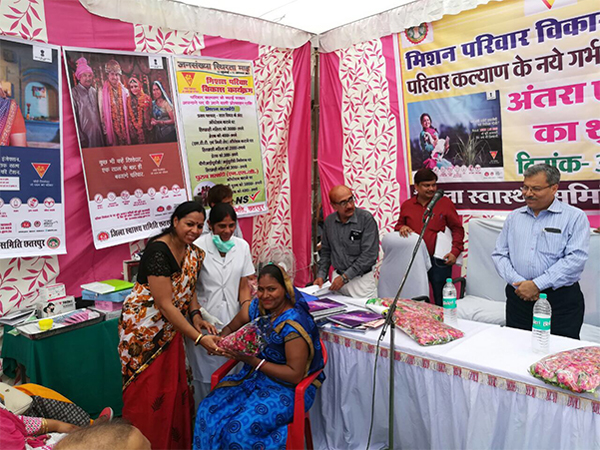 Overjoyed with her decision - the first beneficiary to opt for  Injectable Contraceptive, MPA from Chhattarpur District, Madhya Pradesh.