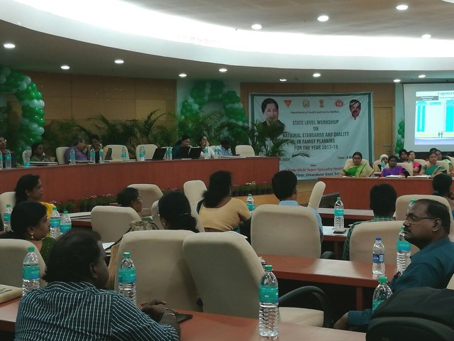 Tamil Nadu successfully completes state level workshop on national standards and quality in family planning.