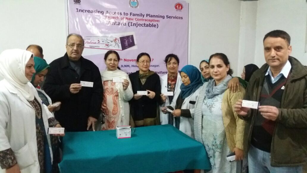 Antara contraceptive launched in Budgam District of Jammu & Kashmir.