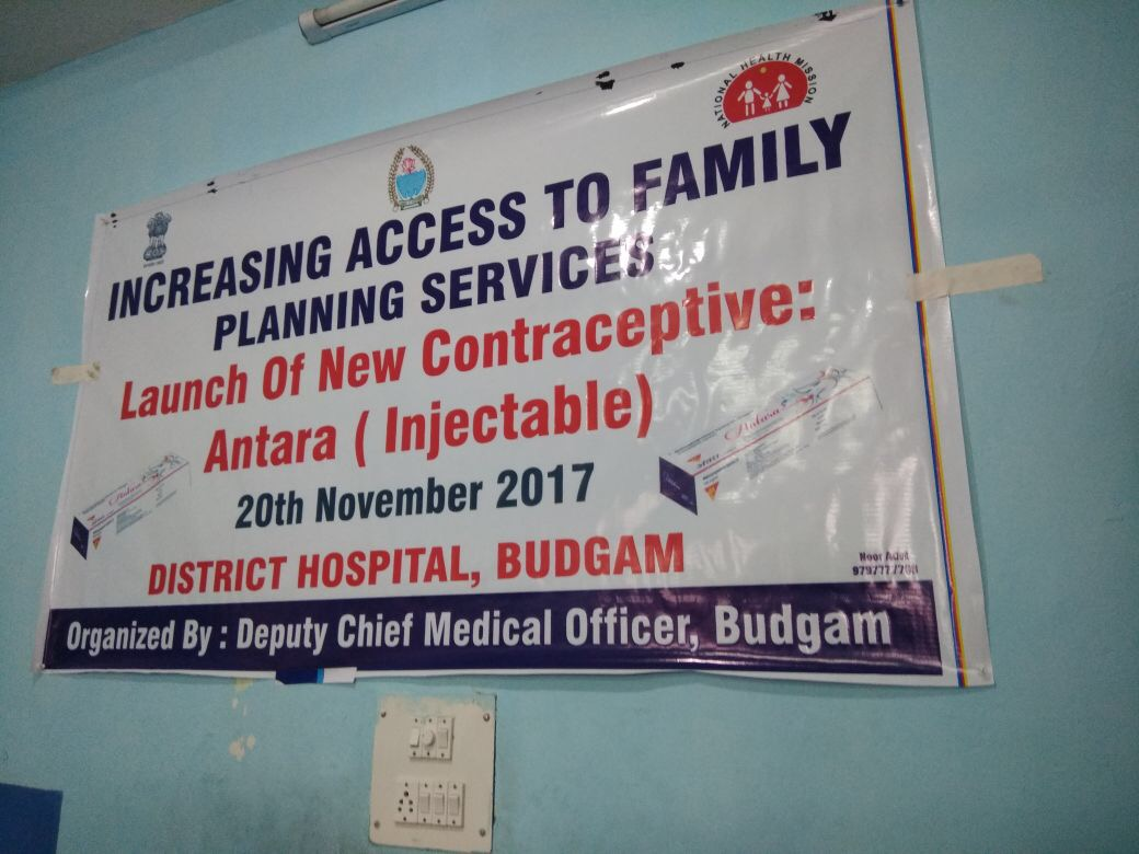 Launch of Injectable Contraceptive (MPA) in Budgam promises a brighter and healthier future for women in the district. Families and women in Budgam are overjoyed.