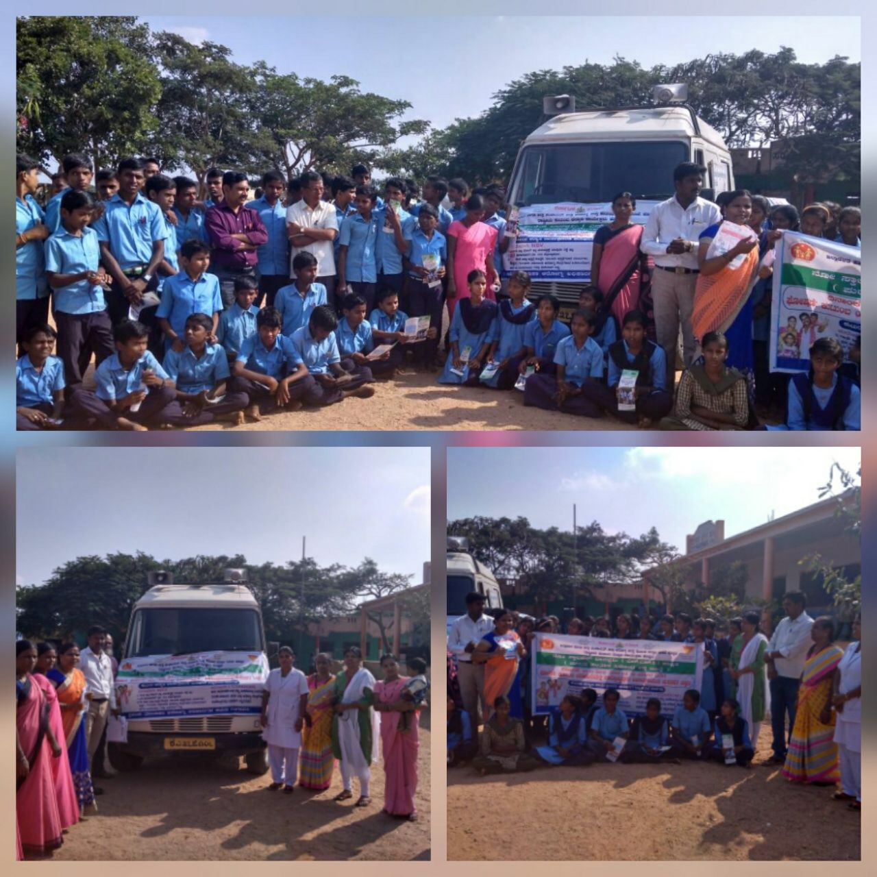Students, community members and health workers mobilised in Koppal district as Karnataka observes Vasectomy Fortnight.