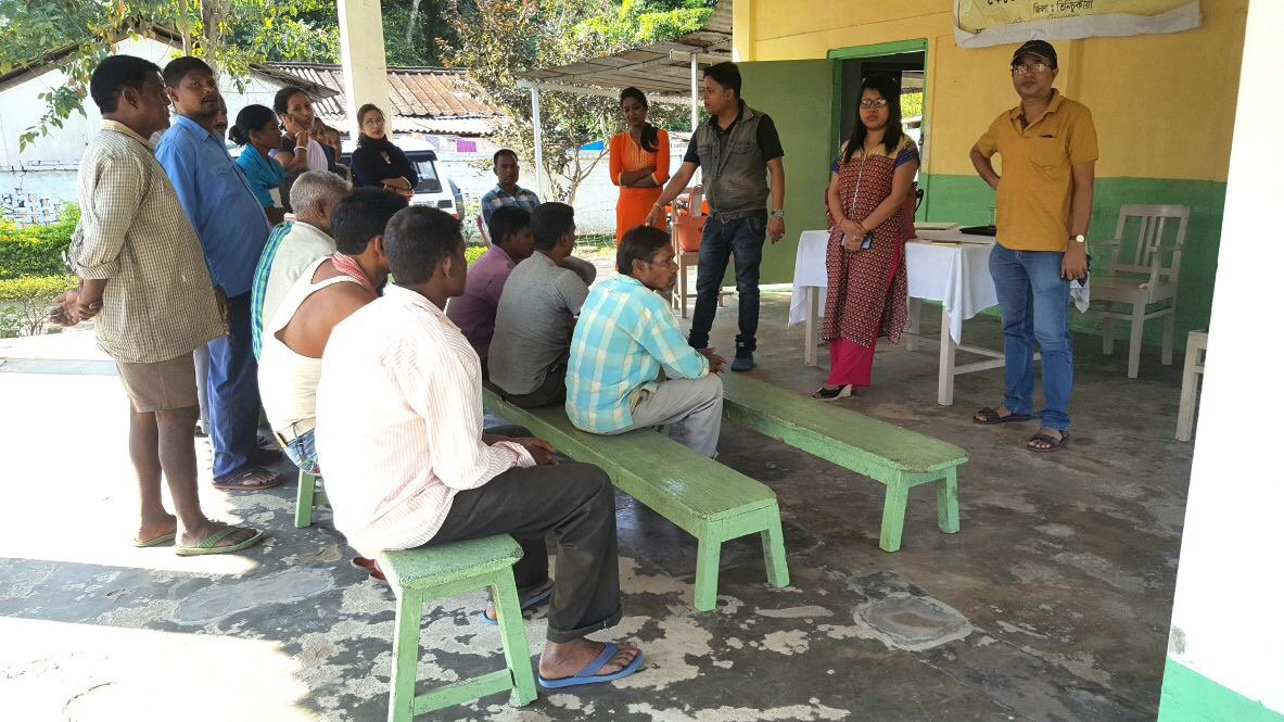 Community level awareness meetings on NSV are being held across tea garden areas in Tinsukhia District, Assam.