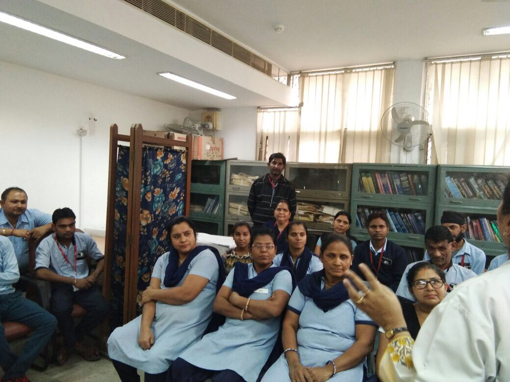 NSV sensitisation meeting of hospital staff at Sardar Vallabh Bhai Patel Hospital, Delhi.