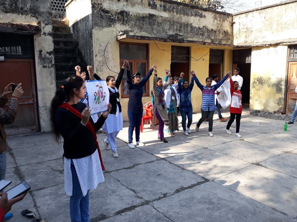 Students in Kathua district, J&K organize nukkad nataks across localities urging the community for greater male participation in family planning.