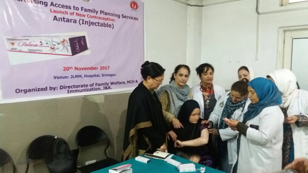 Women in Budgam district (J&K) welcome the launch of Injectable Contraceptive (MPA).