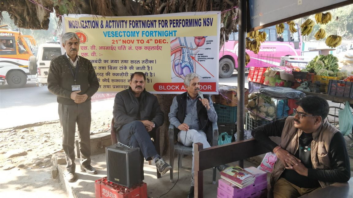 Sensitisation meeting on the need for greater male participation in family planning and the advantages of opting for NSV held at Akhnoor district, J&K.