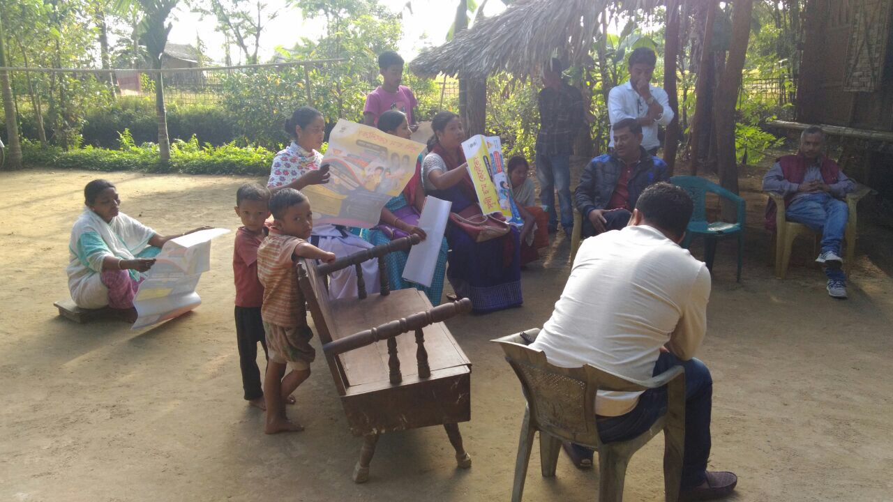 Sensitization meetings and group discussions on NSV held in Lakhimpur and Morigaon districts, Assam as state observes Vasectomy Fortnight.