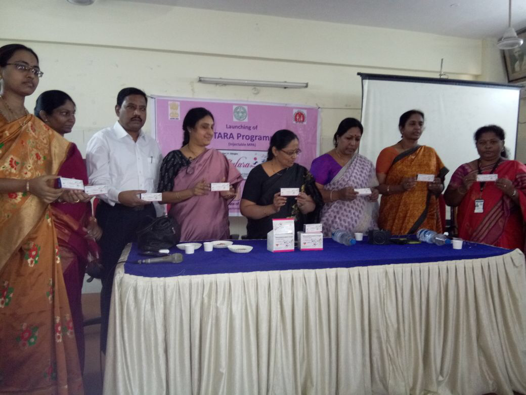 Injectable Contraceptive (MPA) launched at Govt. Modern Maternity Hospital and Government Hospital Sultanbazar, Hyderabad, Telangana.