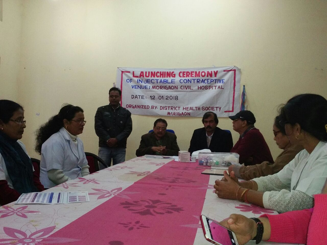 Injectable Contraceptive (MPA) launched at Morigaon District, Assam.