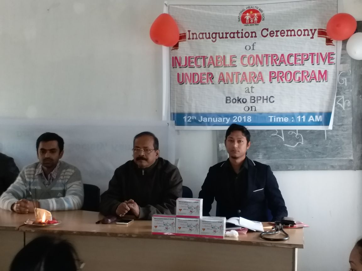 Injectable Contraceptive (MPA) launched and now available in district hospitals in Morigaon, Dibrugarh, Nagaon and Kamrup districts, Assam.