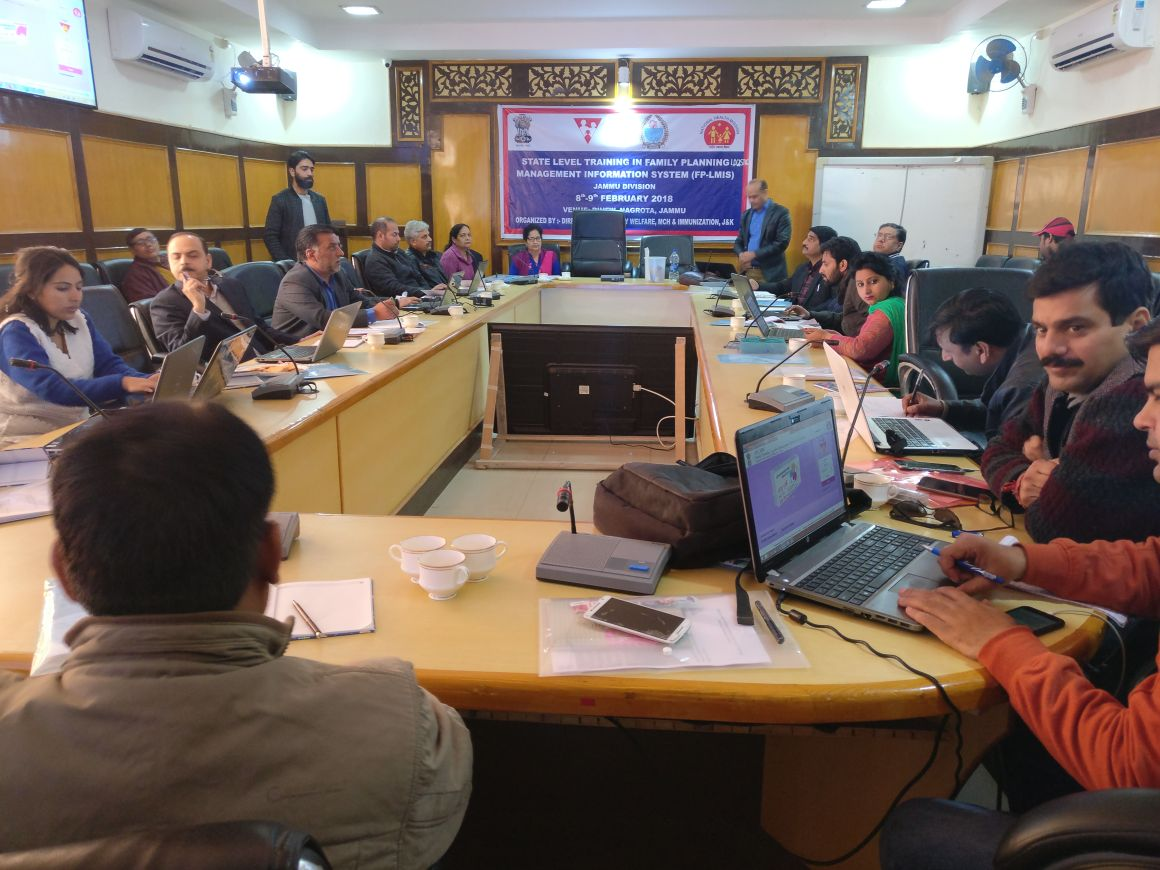 State level training on FP-LMIS concludes in Jammu Division.  Dr. Samir Muttoo, Director Family Welfare, Maternal Child Health & Immunization emphasized on pushing forth efforts to streamline uninterrupted demand & supply of FP commodities in state