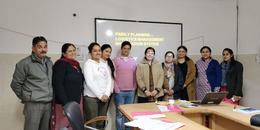 State level FPLMIS training concludes in Chandigarh. State officers, store personnel & Data Entry Operators from District Family Welfare Bureau stores among those trained; Pledge to support GoI in strengthening country's supply chain system.