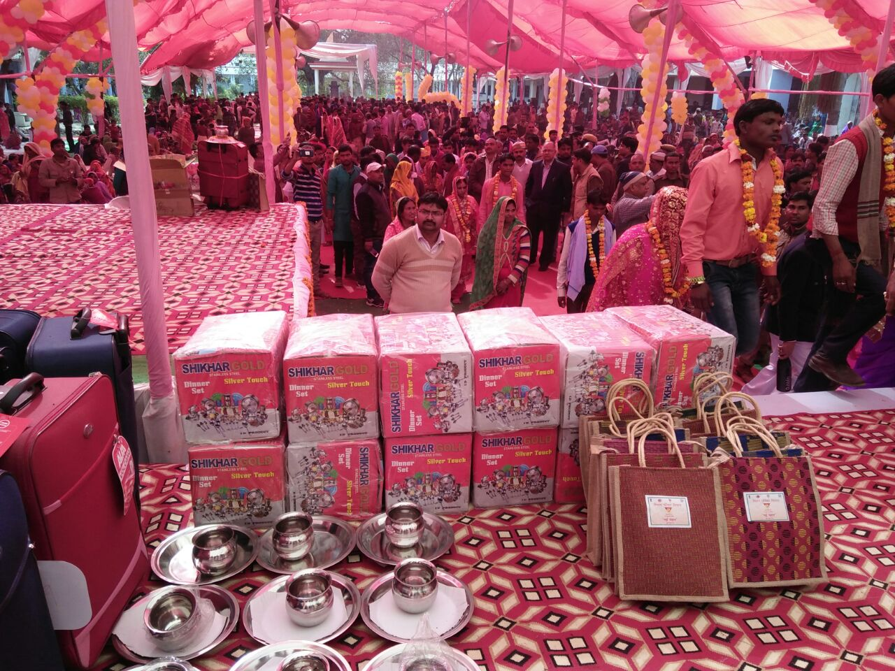 160 newly wed couples were gifted the Nayi Pehel Kit during a mass wedding event organized at Bahraich district, Uttar Pradesh
