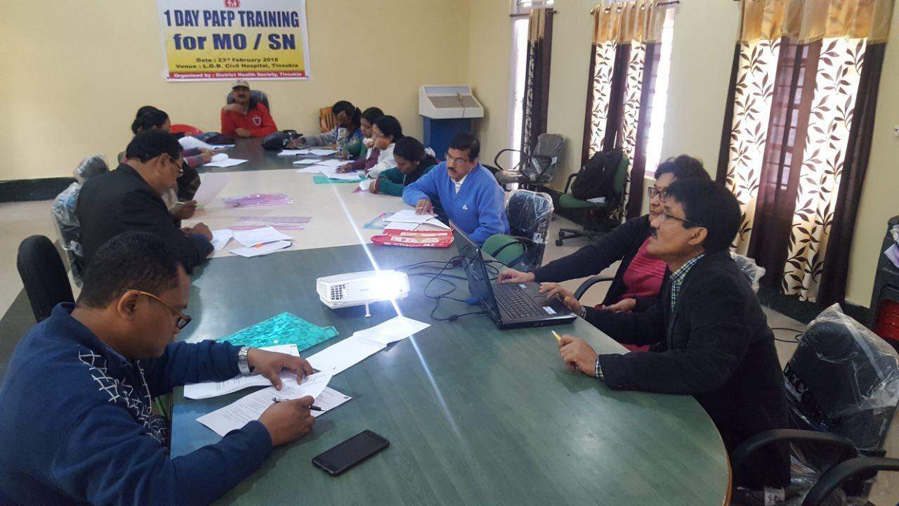 One-day training on Post-abortion Family Planning concludes in Tinsukhia, Assam.