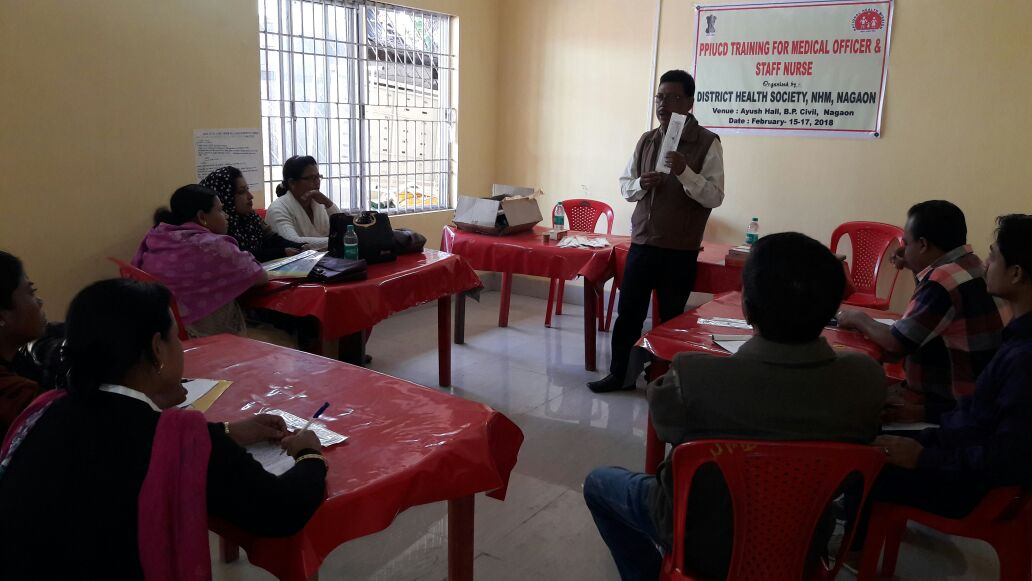Medical Officers and staff nurses undergo training on PPIUCD at Nagao and Barpeta districts, Assam.
