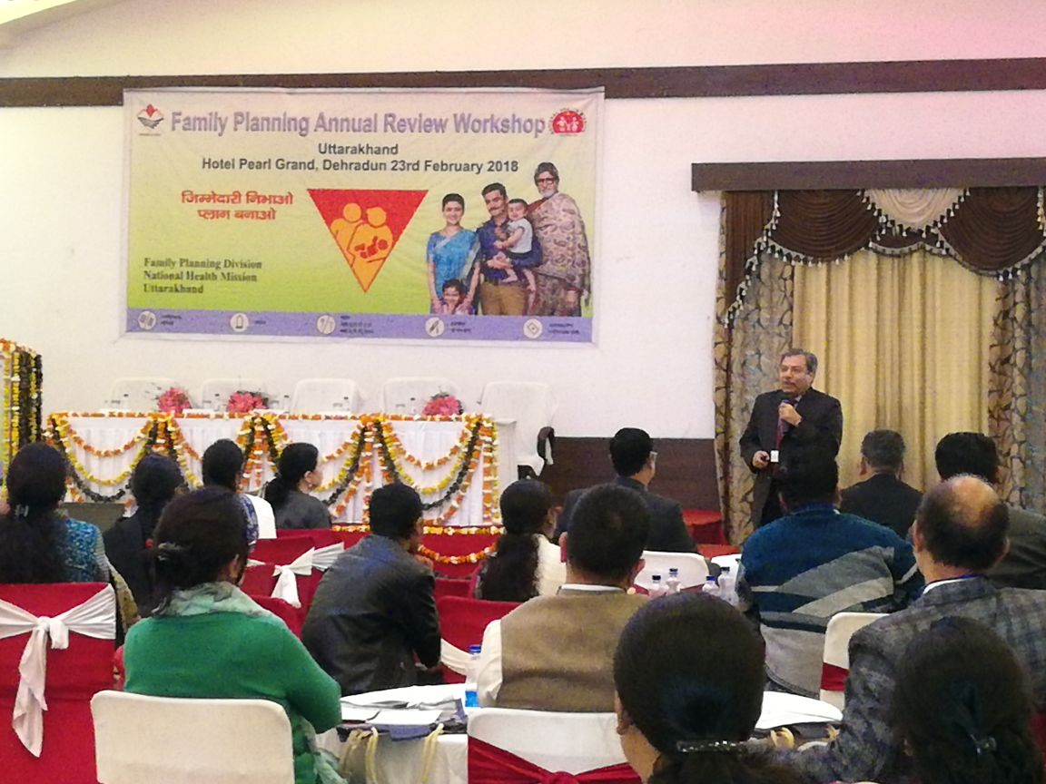 Annual family planning state review workshop concludes in Dehradun, Uttarakhand. State pledges to push forth efforts to promote new contraceptives.
