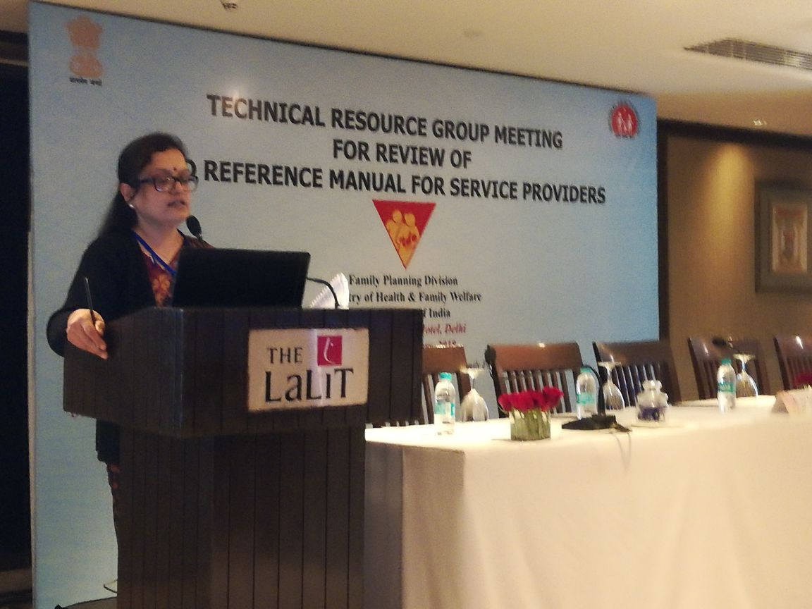 Technical Resource Group Meeting for Review of IUCD Manual for Service Providers.