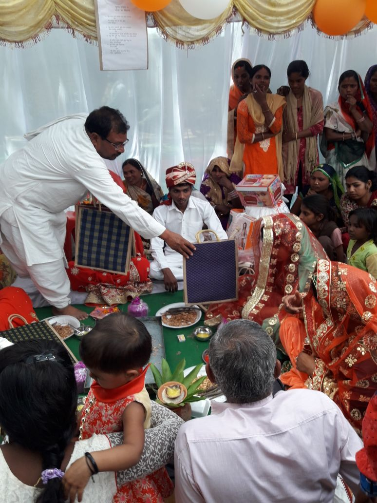 Nayi Pehel kit distributed at a mass wedding event at Ghazipur and also at Sopaul district.