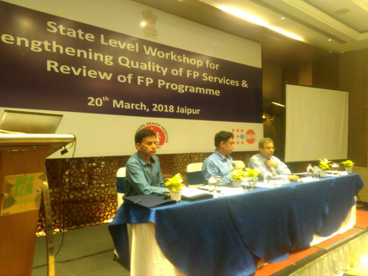 State level review on quality family planning services recently held at Jaipur, Rajasthan