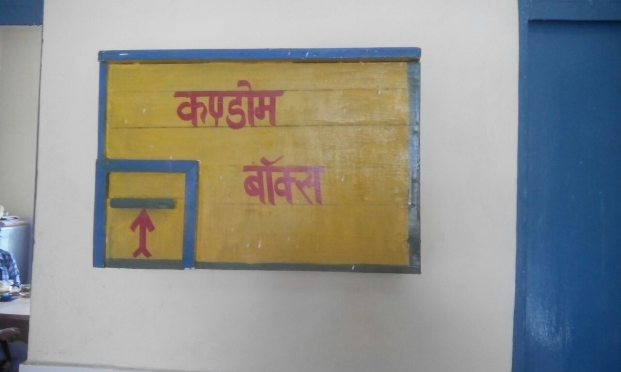 Take a look at these condom boxes placed at facilities in Bulandshahar, Uttar Pradesh. State gears up to focus more on spacing needs of families.