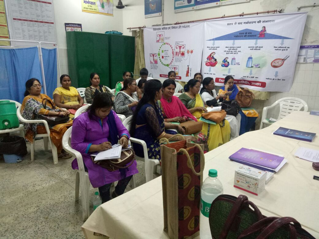 Recently held – training on new contraceptives at Unnao district, Uttar Pradesh.