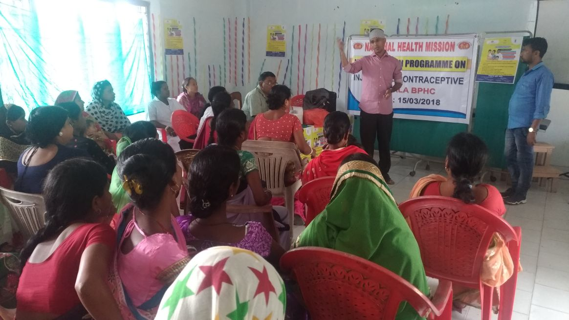 Injectable contraceptive launched at Hailakandi district, Assam.