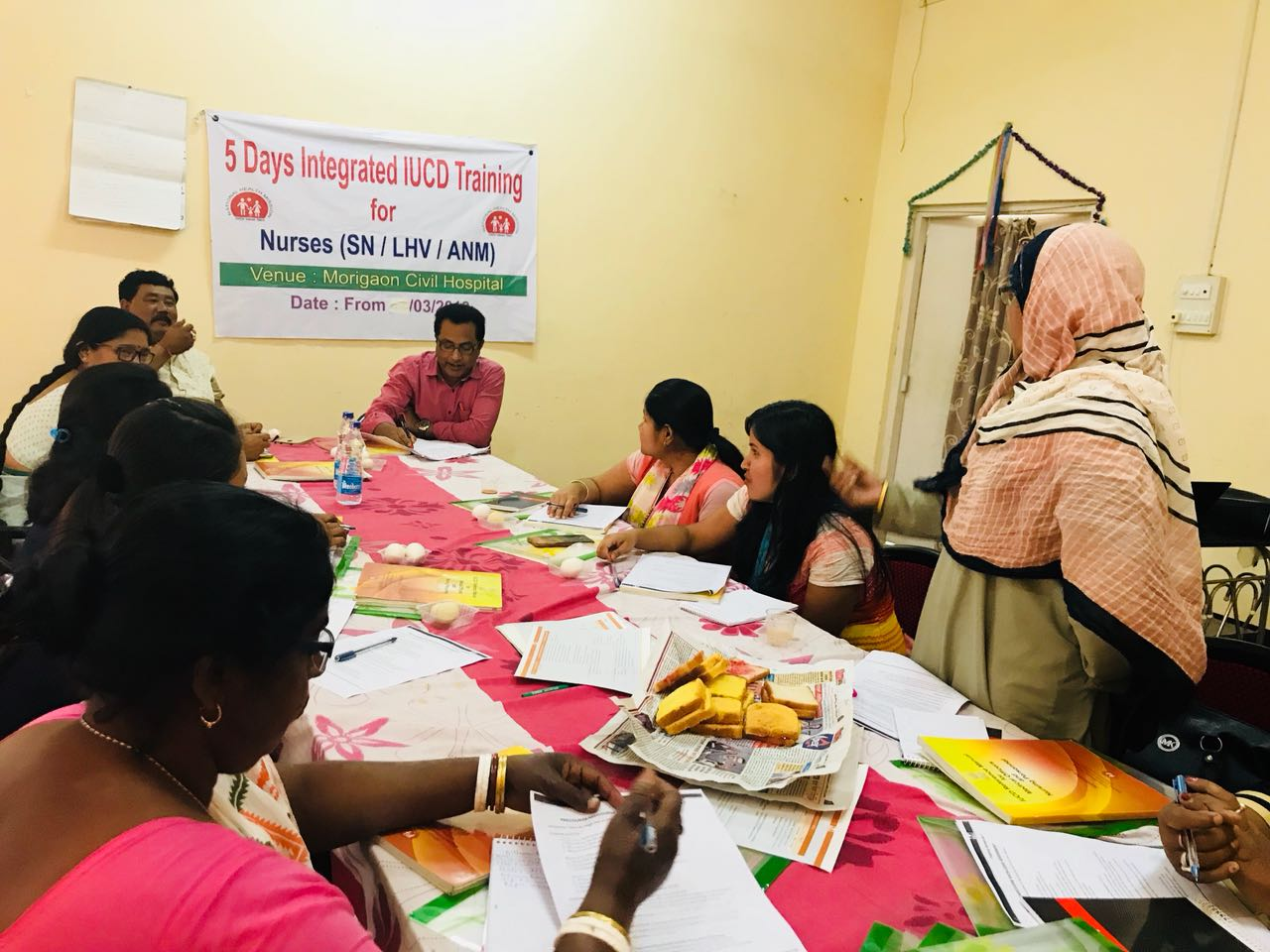 Morigaon district Assam holds five-day integrated IUCD training for staff nurses, LHVs and ANMs.