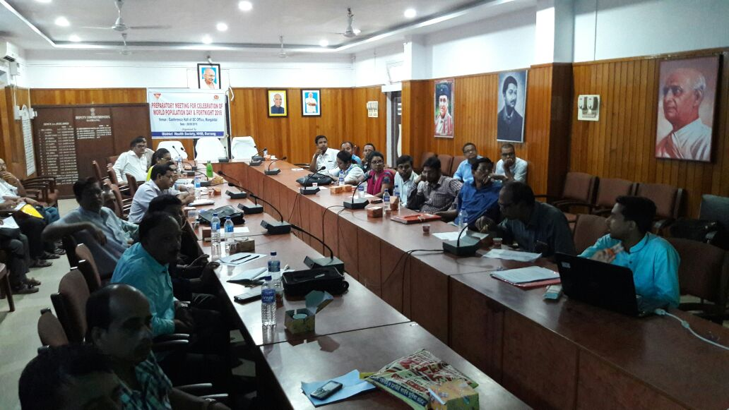 Assam kick starts preparations for the upcoming World Population Day 2018 & fortnight. Darang district holds district level preparatory meeting under chairmanship of DC, Darrang.